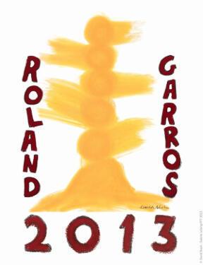 Affiche Roland Garros 2013
