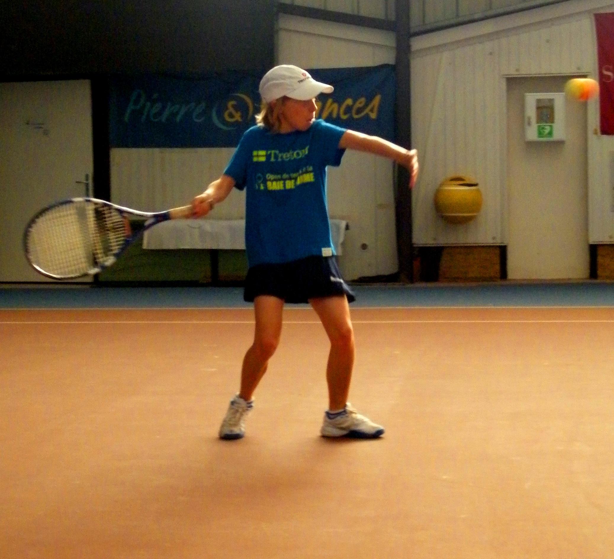 Apprendre Le Coup Droit Exercice Pour Debutant Au Tennis Tennis Attitude