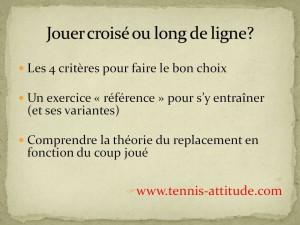 Jouer croisé ou long de ligne? 4 critères pour faire le bon choix !